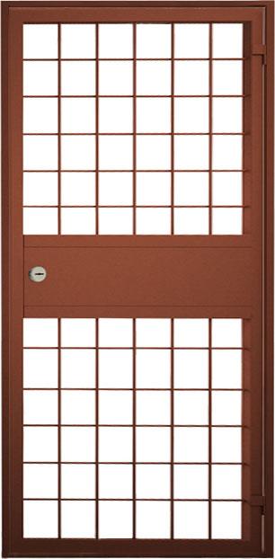 железная дверь решётчатая